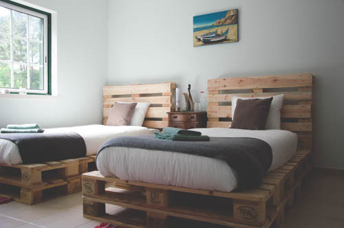 Twin room at the Kitesurf Lodge
